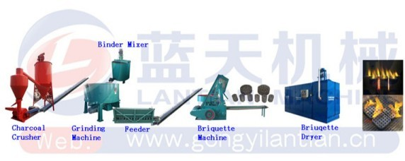 BBQ coal charcoal making machine